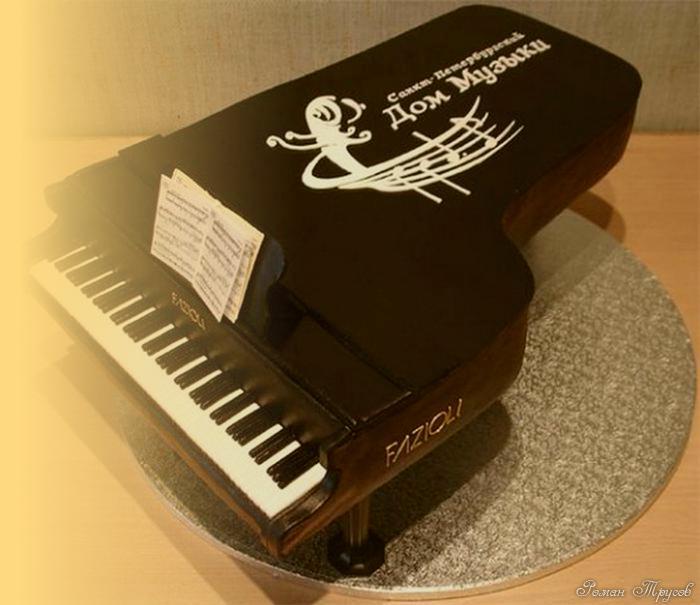 торт в виде рояля рецепт с фото